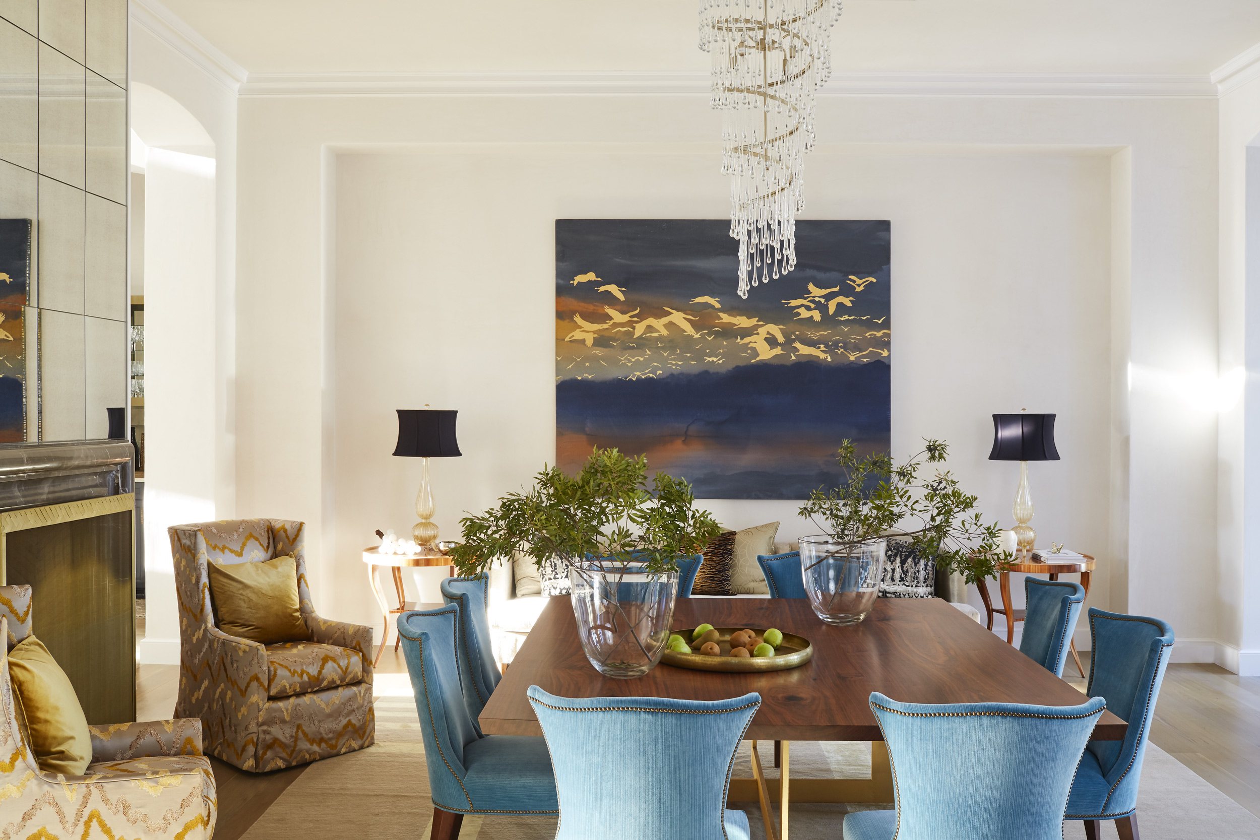 Bridget Beari interiors with Tom Swanston art, Mali Azima photography.