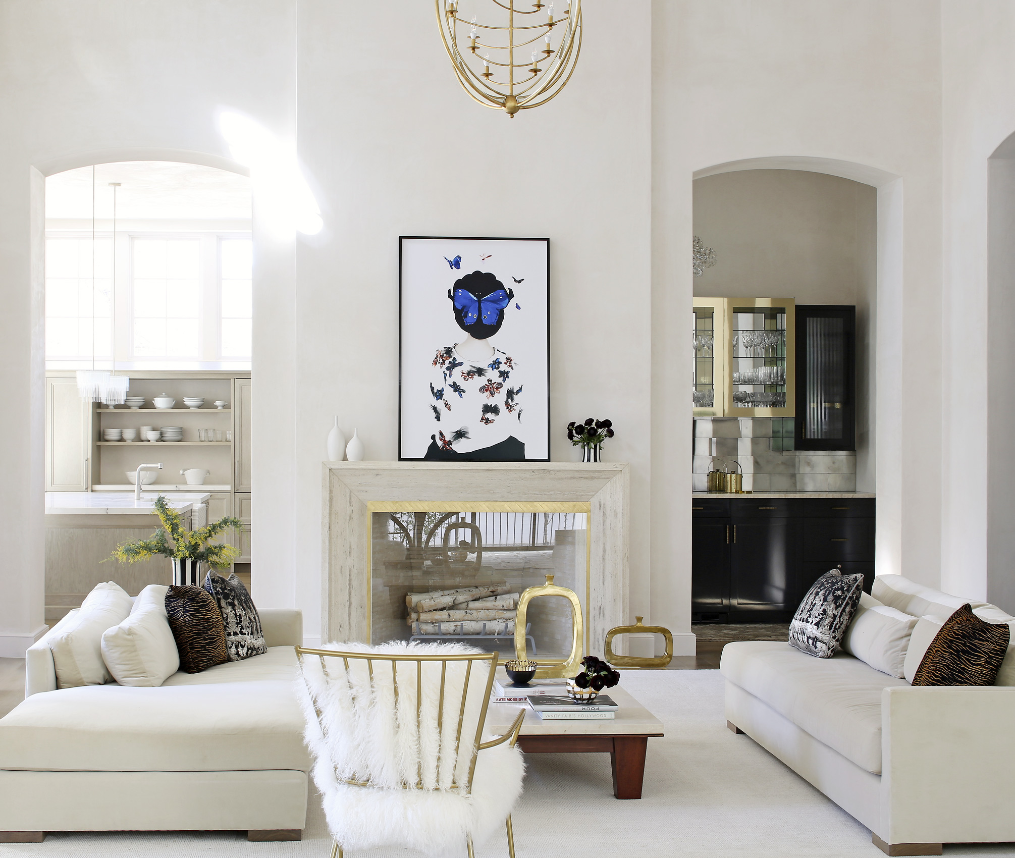 Eric Madigan Heck art hangs in a Bridget Beari Designs interior, Mali Azima photography.