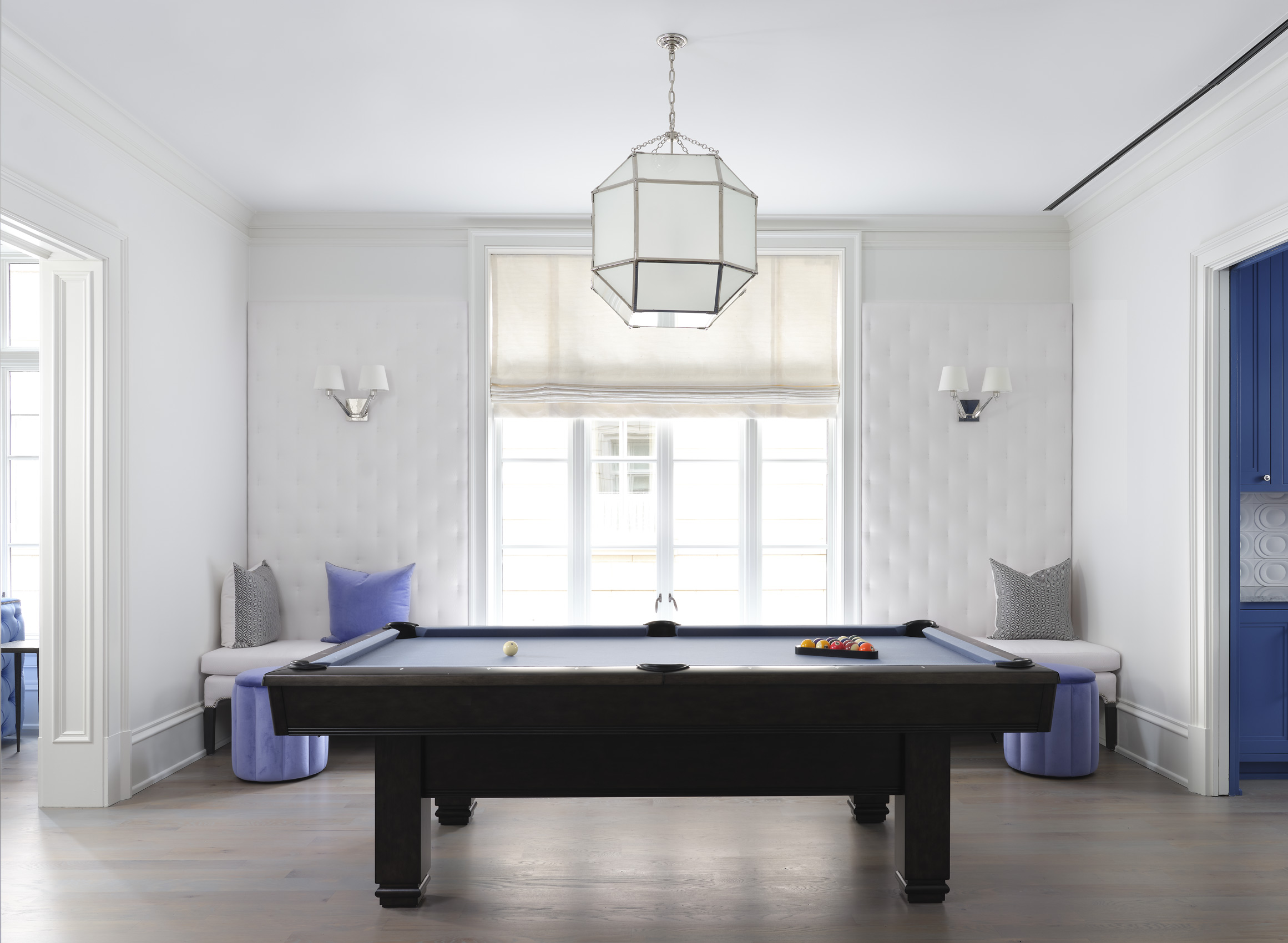 Pool table room by Kay Douglass, Interiors photo by Mali Azima.