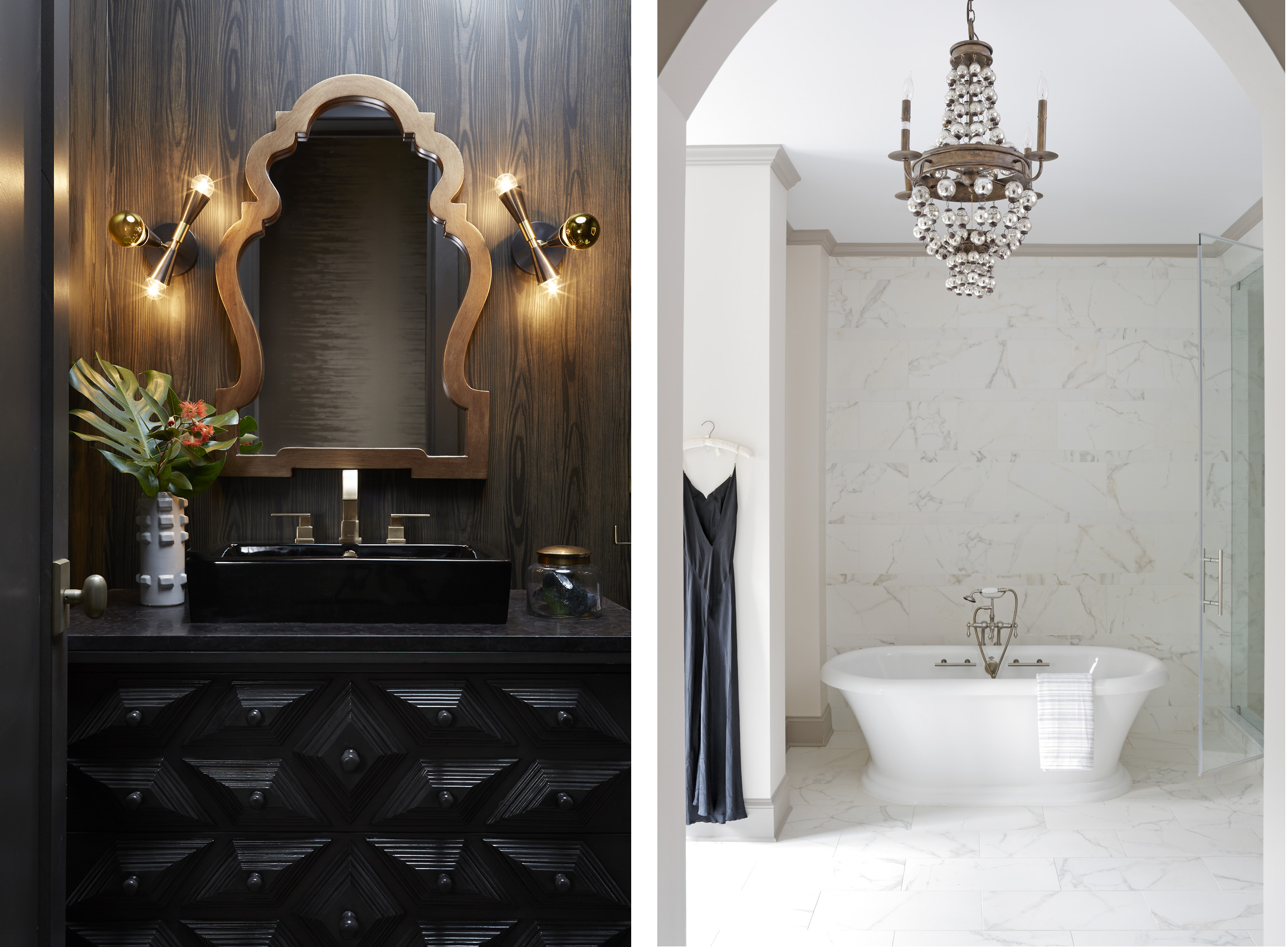 Kristin Kong Interiors designed bathrooms, Mali Azima photography.