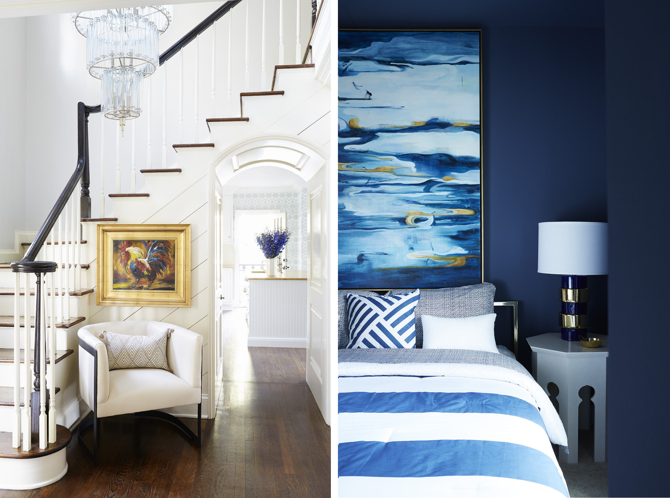 Kristin Kong interiors in both photos, Mali Azima photographer.