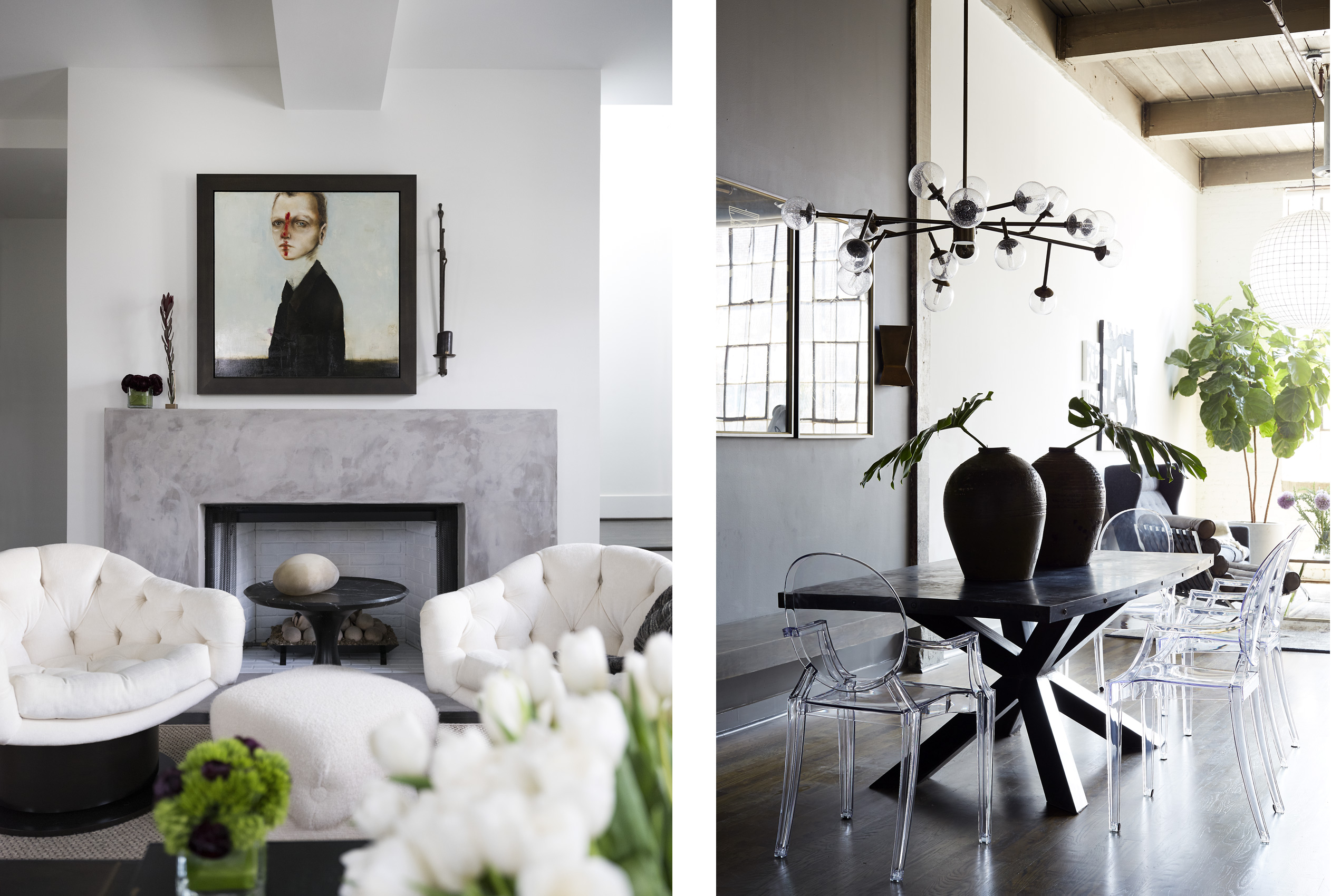 Ryan Hughes left and Minhnuyet Hardy right Interiors