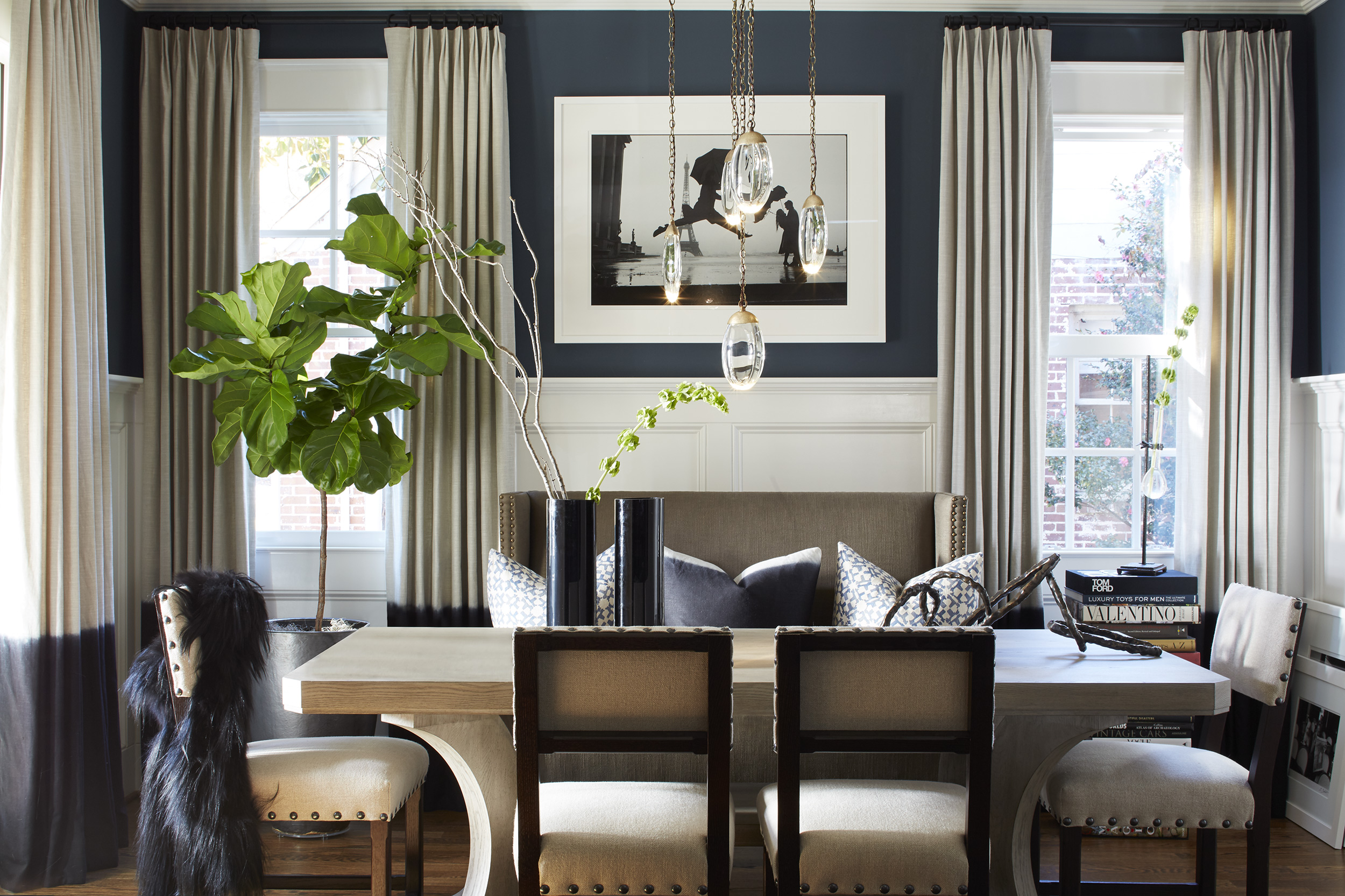 Stephanie Geyer Interiors dining room, photo by Mali Azima