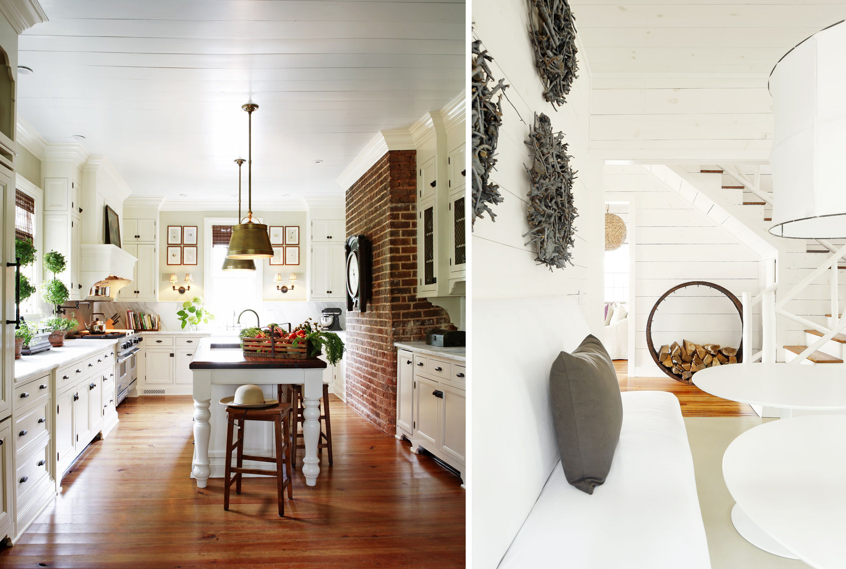 Jamie McPherson kitchen and Kay Douglass lakehouse photographed by Mali Azima.